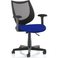 Oreto Mesh Back Chair With Fabric Seat, Stevia Blue