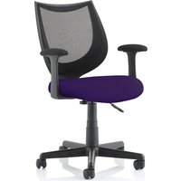 Oreto Mesh Back Chair With Fabric Seat, Tansy Purple