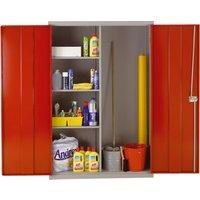 Economy Heavy Duty Wide Utility Cupboard , Red