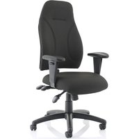 Asinaro Fabric Posture Chair (Adjustable Arms), Black
