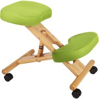 Wood Framed Kneeling Chair, Lime