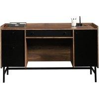 Harris Desk, Grand Walnut/Black
