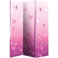 image-Butterfly Pink Room Divider In Canvas