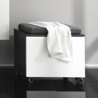 Beach Storage Bench With Seat In Grey And High Gloss White Front