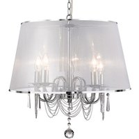 Venetian Chrome with Polycarbonate Shade Ceiling Light