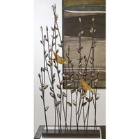 Product photograph showing Albero Ornament With Bronce Finish 2 Birds In Metal Branches