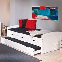 Ulli Day Bed With 3 Drawers And Pull Out Under Bed In White