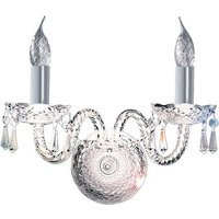 Hale Double Wall Light Finished In Polished Chrome