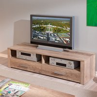 image-Utopia Wooden LCD TV Stand In Wild Oak With 2 Drawers