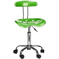 Hanoi Office Chair In Green ABS With Chrome Base And 5 Wheels