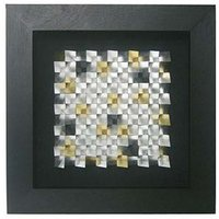 Framed Gold and Silver Mosaics Wall Art