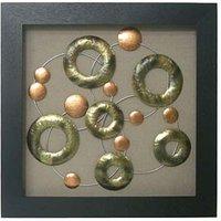 Framed Copper Circles Wall Art