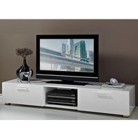 Product photograph showing Genie Lcd Tv Stand In White High Gloss