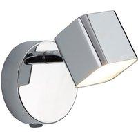 image-Quad Chrome Wall Bracket Spotlight With Square LED Head