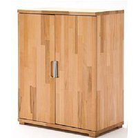 Cento Solid Core Beech Low Board Storage Cabinet With 2 Door