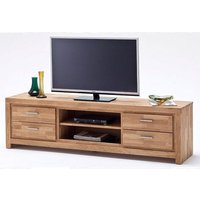 image-Santos LCD TV Stand In Solid Knotty Oak With 4 Drawers