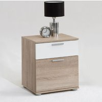 Jack 3 Oak Finish Wooden Bedside Cabinet With 2 Drawers