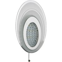 image-Oval Led Wall Light With Frosted Glass In Chrome