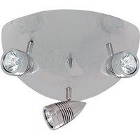 Falcon Satin Silver Three Triangular Ceiling Spotlight