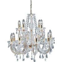 Marie Chandelier Clear Shade Octagonal Droplets Ceiling Light