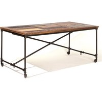 Natural Look Solid mango Wooden Dining Table