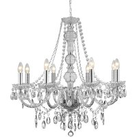 image-Marie Therese 8 Lamp Clear Chandelier Ceiling Light