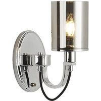 Catalina Single Light Wall Bracket Black Braided Cable With
