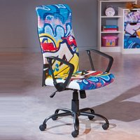 Product photograph showing Tycoon Children Office Chair In Coloured Pu Leather With Rollers