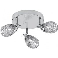 Mesh Spot Chrome Three Ceiling Spotlight With Wire Mesh Shad