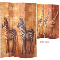 Product photograph showing Africa Canvas Printed Room Divider In Foldable Design