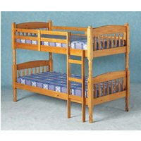 Albany Old Antique Pine Bunk Bed with Ladder