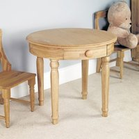 Product photograph showing Amila Oak Wooden Childrens Play Table