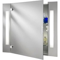 image-Bathroom Cabinet Illuminated Mirror Complete With Shaver Socket