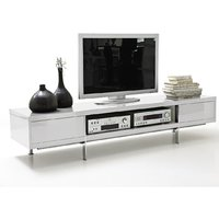 image-Brisbane LCD TV Stand in White High Gloss Finish With 2 Drawer