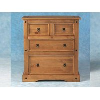 Carona 4 Drawer Chest In Distressed Waxed Pine