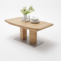 Cuneo Extendable Dining Table Boat Shape Large In Core Beech