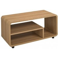 image-Baxton Curve LCD TV Stand In Oak