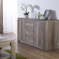 Caister Wooden Sideboard In Oak With 2 Doors And 3 Drawers