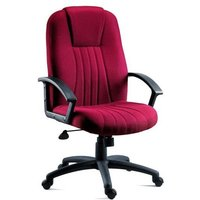 Cromer Home Office Chair In Red Fabric With Castors