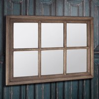 Product photograph showing Winster Wall Mirror Rectangular In Weathered With Window Design