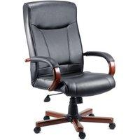 Kingston Mahogany Executive Leather Chair