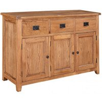 Hailey Solid Oak Finish 3 Door Large Sideboard With 3 Drawers