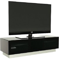 image-Castle LCD TV Stand Medium In Black With Glass Door