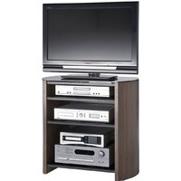 image-Walnut Veneer LCD TV Stand With 4 Shelves