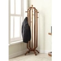 Westo Wooden Coat Stand In Walnut With 12 Hooks