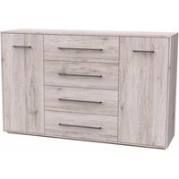 Armado Sideboard In Sand Oak With 4 Drawers And 2 Doors