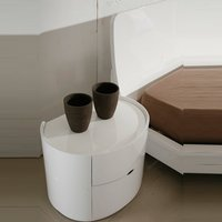 Laura Bedside Cabinet In White High Gloss With 2 Drawers