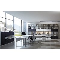 Product photograph showing Linea Set D Office Room Furniture In Anthracite And White