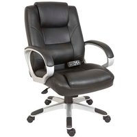 Daren Home Office Chair In Black PU Leather And Massage Function