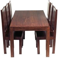 Mango Dining Set with 6 High Back Chairs